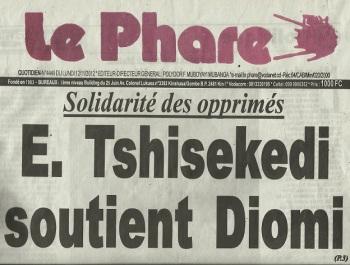 LE PHARE: E. TSHISEKEDI SOUTIENT DIOMI