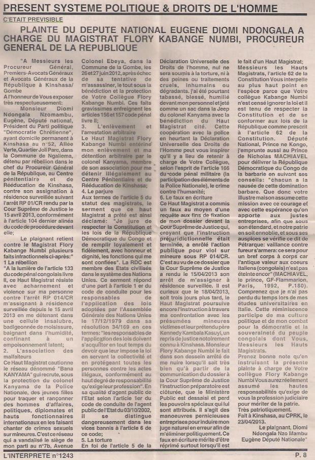 L'INTERPRETE N°1243