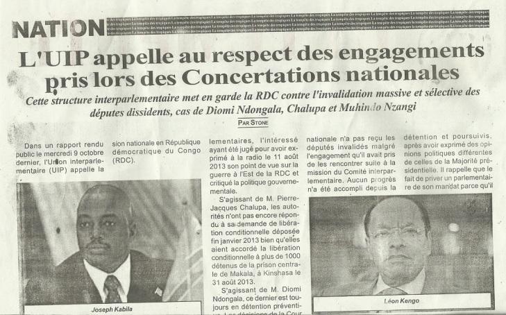 """LE BILAN DE """"JOSEPH KABILA"""" ! LES DISCOURS !!! Tempete-des-tropiques-du-171013-001"""