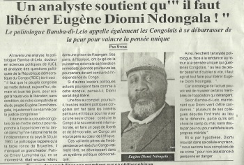 Appel du politologue Bamba-di-Lelo