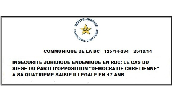 COMMUNIQUE DU 251014