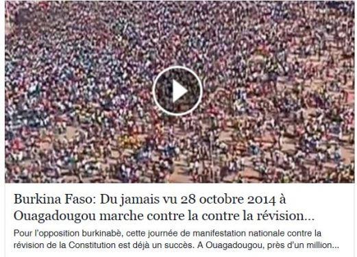 video un million de burkinabes contre revision constitution