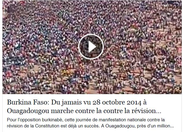 video un million de burkinabes contre revision constitution
