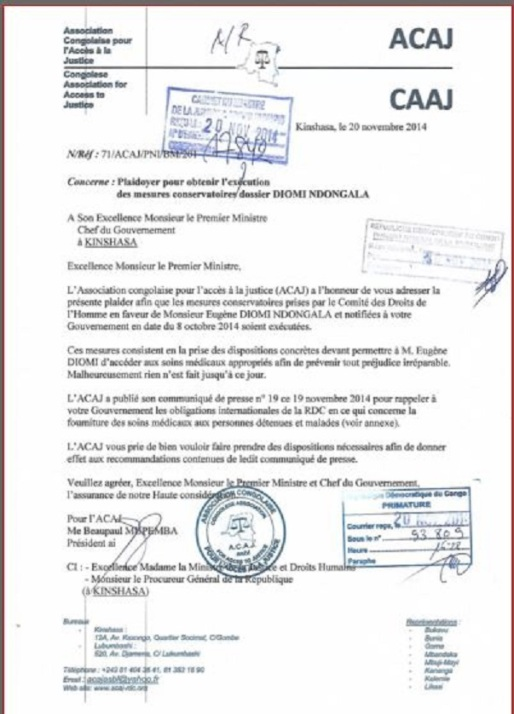 lettre transmission comm acaj deni soin