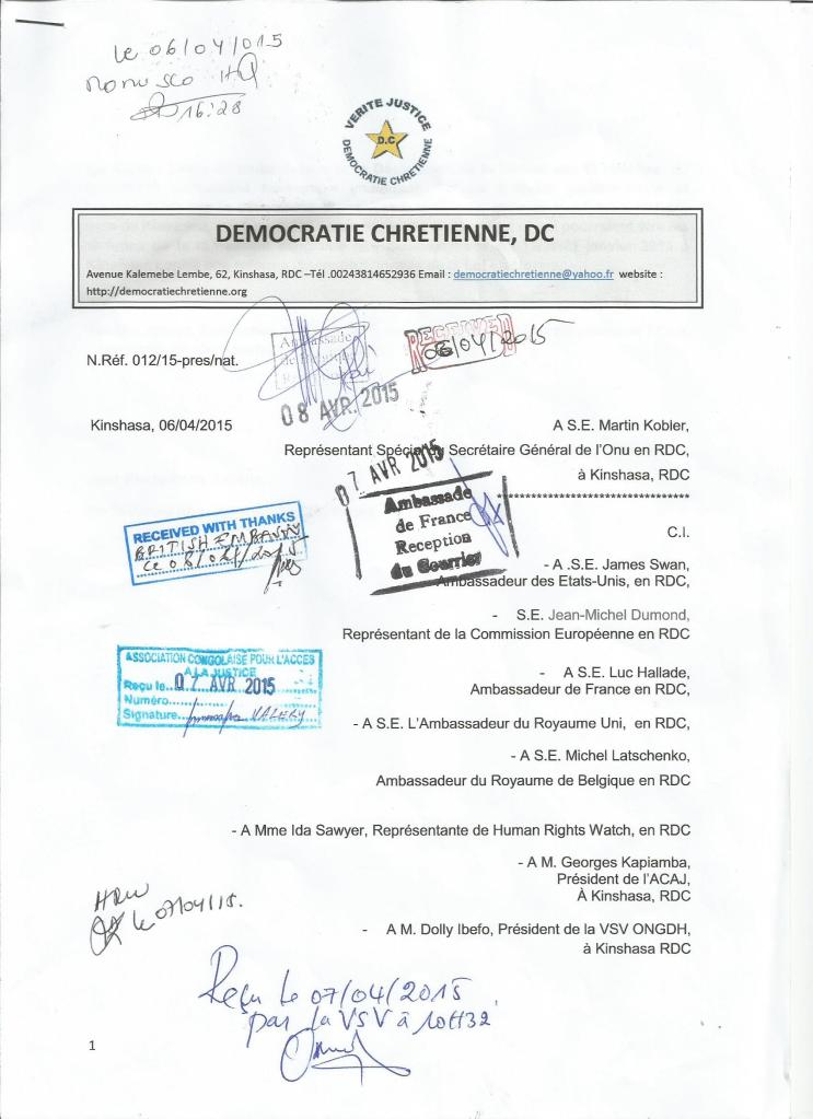 ACCUSEES DE RECEPTION COMMUNIQUE DC FOSSE COMMUNE 1 001