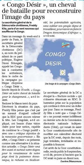 CONGO DESIR DEPECHE DE BRAZZA 230915