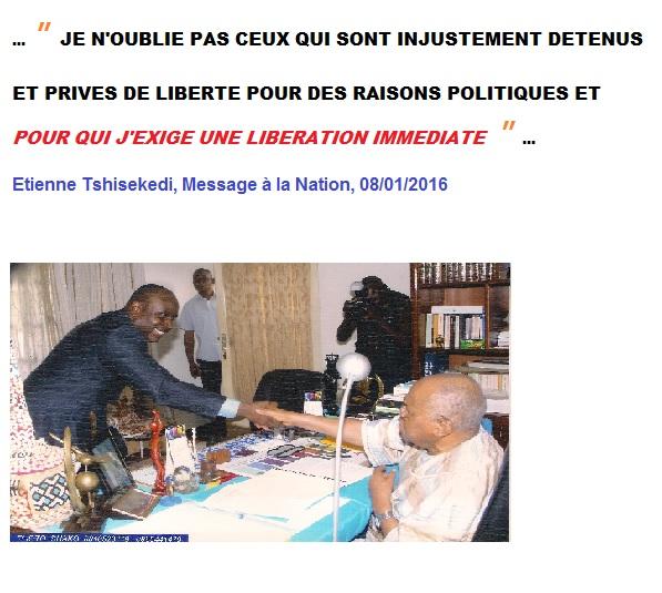 message a la nation prisonniers politiques