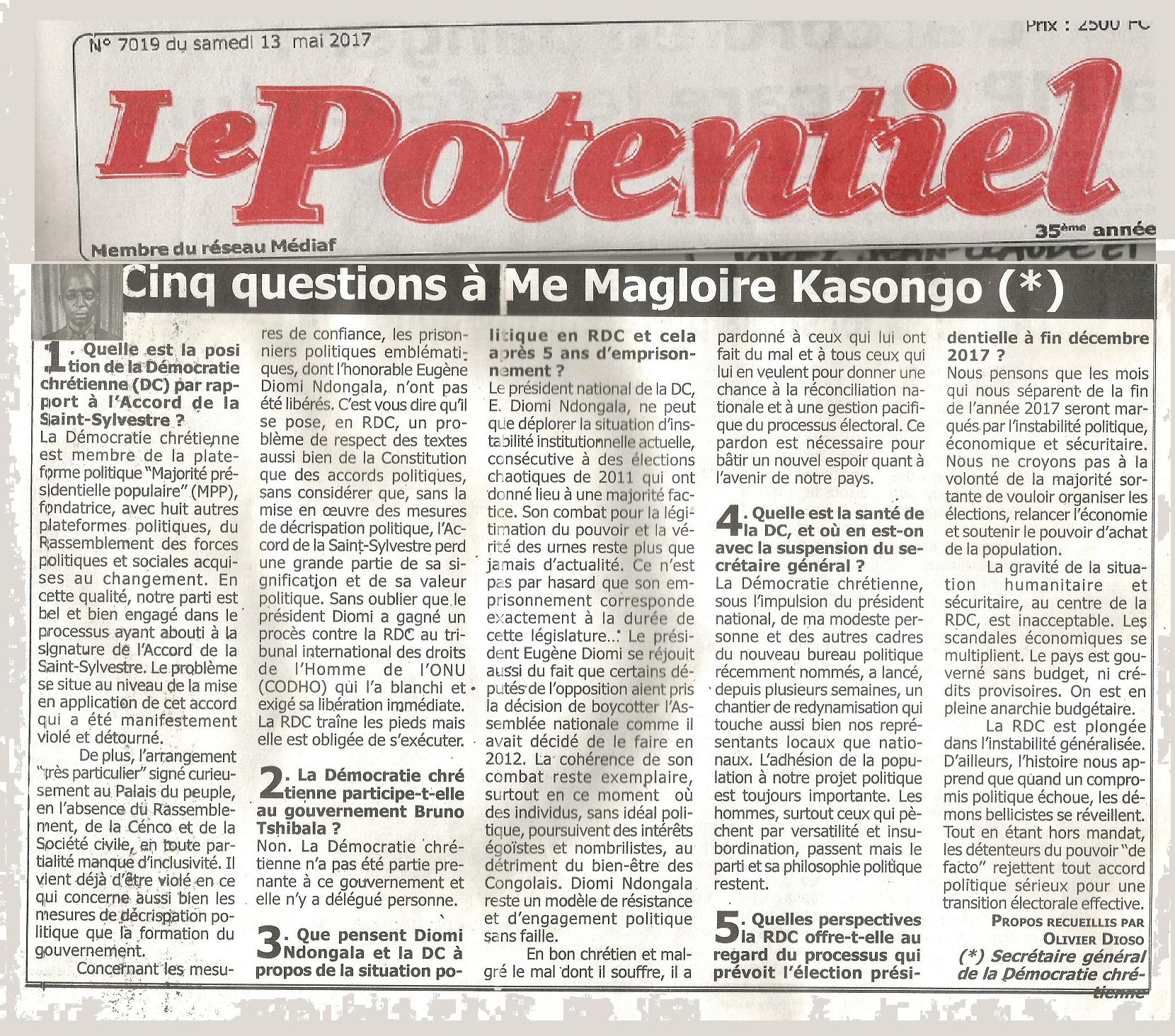 LE POTENTIEL 130517 MAGLOIRE