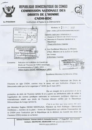 lettre cndh 1 au min justice et dh