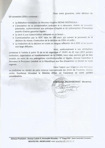 lettre du cndh 2 au min justice et dh