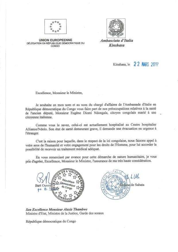 lettre conjointe ue et ambassade d italie