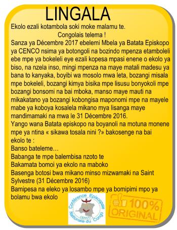 message eglise lingala