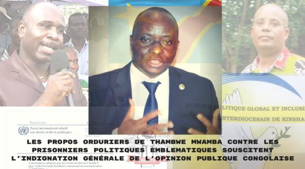 Les propos orduriers de Thambwe Mwamaba souscitent l