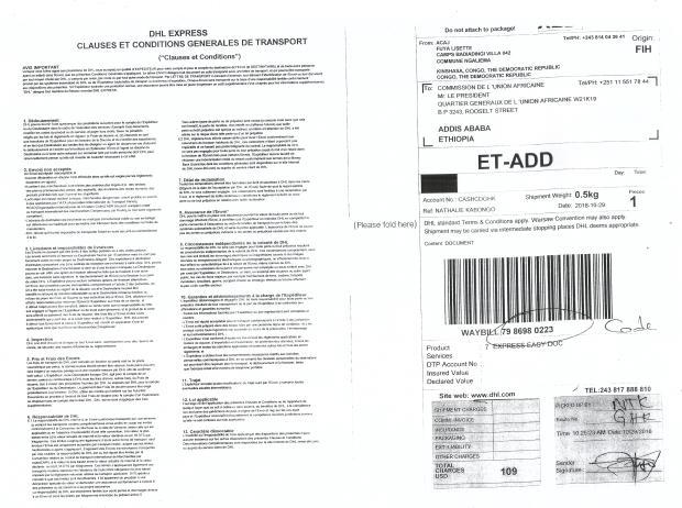 DHL A LA COMMISSION DE L UNION AFRICAINE ADDIS ABEBA